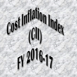 Cost Inflation Index for the Financial Year 2016-17 is 1125