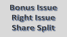 Taxation rules for Bonus Issue, Right Issue & Split of Shares